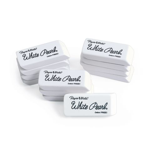 Image of Papermate White Pearl Eraser Set of 12