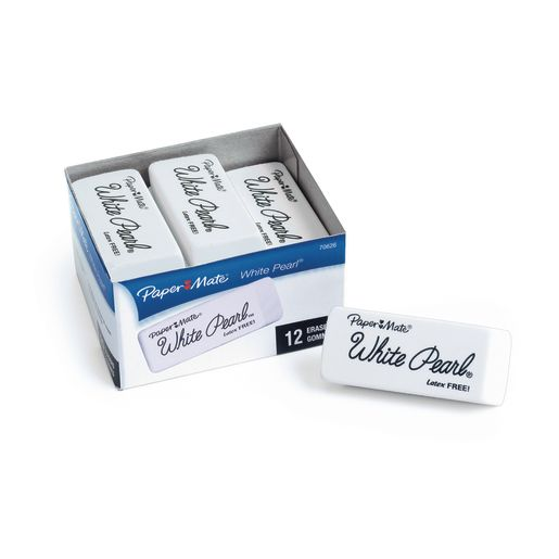 Papermate® White Pearl™ Eraser Set of 12