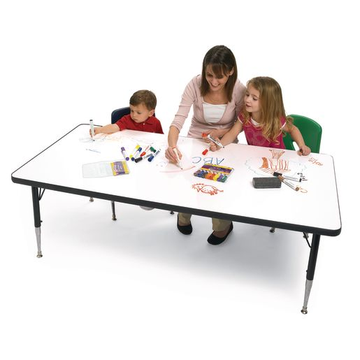 "Imagination Station Dry-Erase 48"" x 72"" Kidney Table - 15"" to 25"" High"