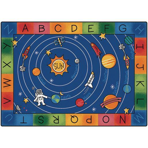 "Milky Play Literacy 4'5"" x 5'10"" Rectangle Premium Carpet"