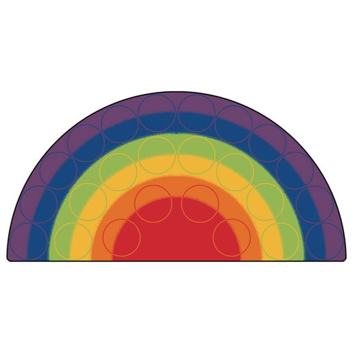 Rainbow Rows Seating 6' x 12' Semi-Circle Premium Carpet