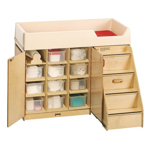 Birch Diaper Depot with Right-Hand Stairs