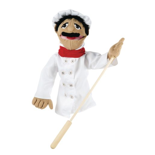 Image of Melissa and Doug Chef Puppet with Detachable Wooden Rod