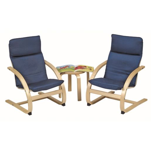 Easy Does It Chair and Table 3 PC Set - Blue