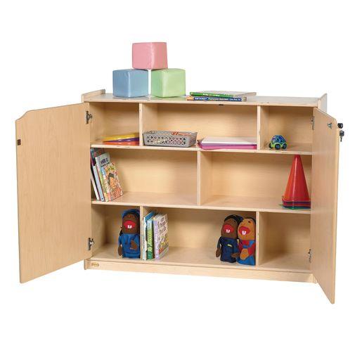 "Locking Shelf Storage - 36""H"