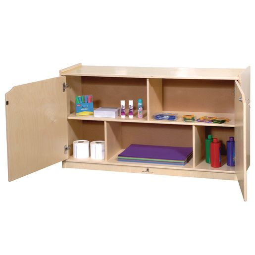 Locking 2-Shelf Storage with Doors