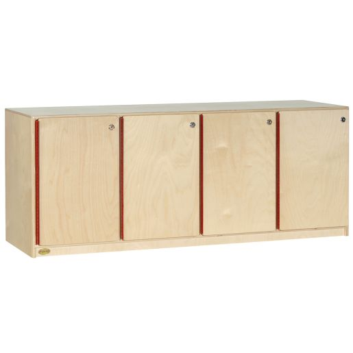 Stackable 4-Section Lockers