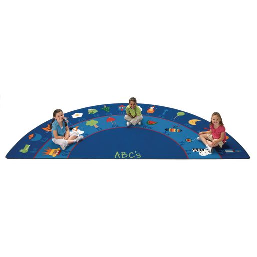 "Fun With Phonics Rug - 6'8"" x 13'4"" Semi-Circle"