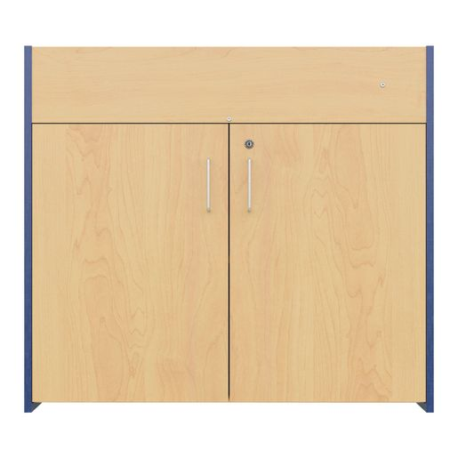 Infant Changing Table, Laminate Top - Maple/Blue