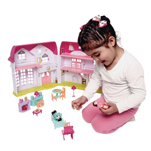 Deluxe Doll House with Furniture and People