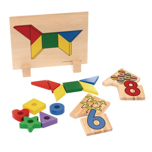 Wooden Mathematics Toys Set of 3