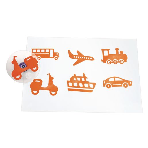 Image of Colorations Jumbo Easy Grip Transportation Stampers