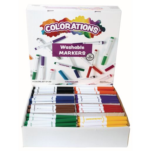 Image of Colorations Washable Classic Markers Classroom Pack - Set of 200