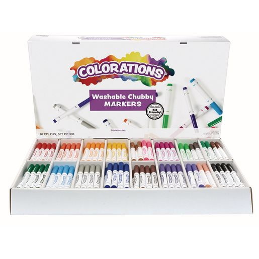 Image of Colorations Washable Chubby Marker Smart Pack - Set of 300
