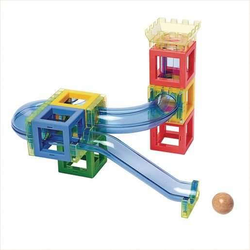 Excellerations® Magnetic Ball Run STEM Construction Set