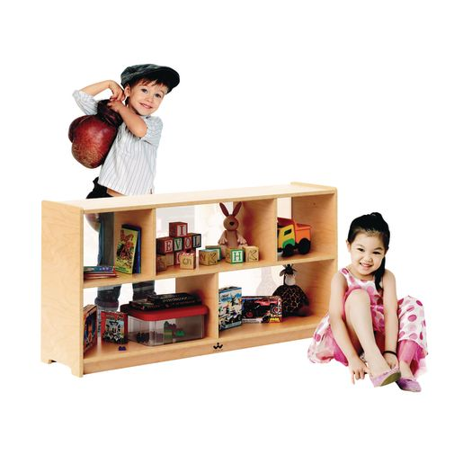 """24""""H Clear Back Divided Storage Cabinet"""
