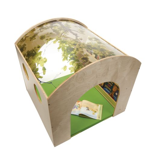 Indoor Nature Reading Nook with Floor Mat - Ready to Assemble