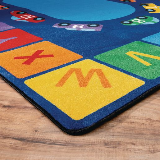 "Alphabet Counting Cars Premium Carpet 8'5"" x 11'9"" Rectangle"