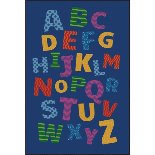 Alphabet Scramble Decorative Premium Carpet - 6' x 9' Rectangle