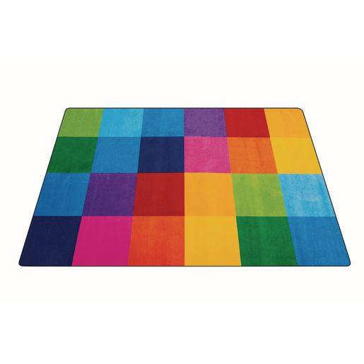 Rainbow Mosaic Premium Carpet - 6' x 9' Rectangle