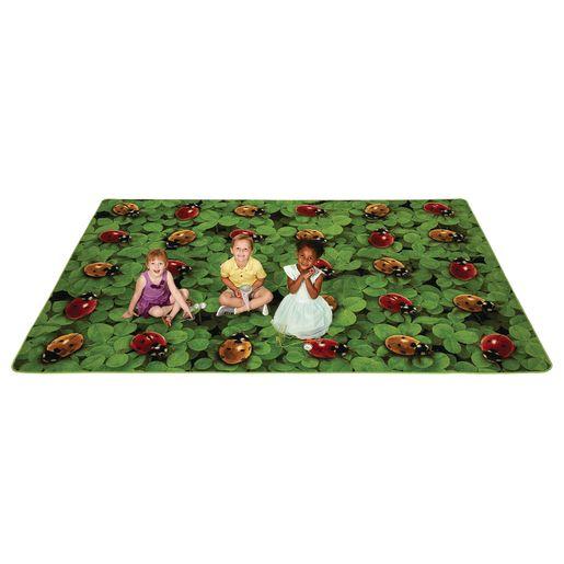 Real Ladybug Seating 6' x 9' Rectangle Pixel Perfect Carpet