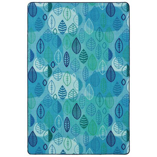 Peaceful Spaces Leaf 4' x 6' Rectangle Pixel Perfect Carpet
