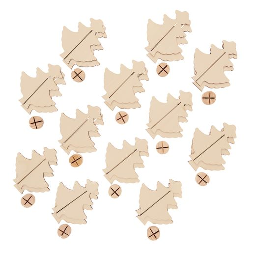 Colorations® Easy Build Wooden Tree Set of 12