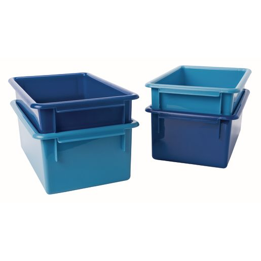 MyPerfectClassroom® Easy Label Bins 2-Tone Blue, Set of 4