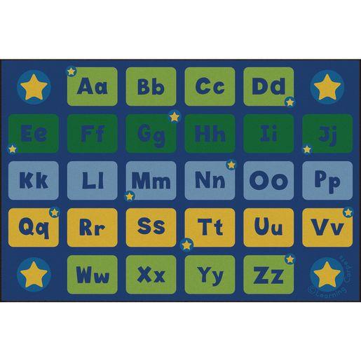 Alphabet Stars Premium Carpet - 6' x 9' Rectangle