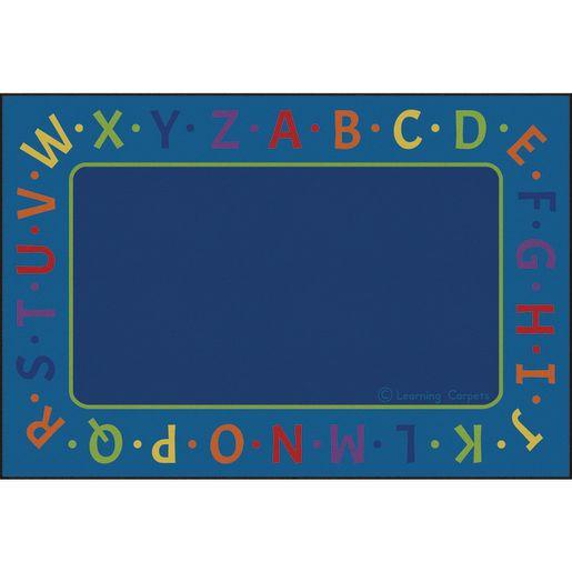 Alphabet Border Premium Carpet - 8' x 12' Rectangle