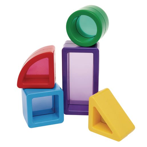 Image of Chunky See-through Colored Blocks Set of 15