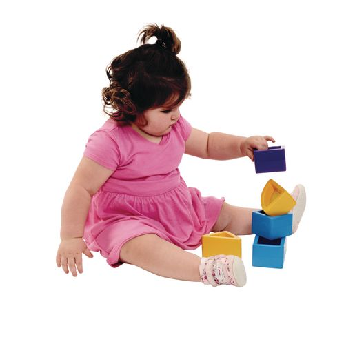 Chunky See-through Colored Blocks Set of 15