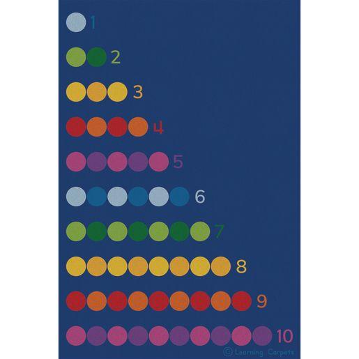 "Counting Color Dots Premium Carpet - 8'5"" x 11'9"" Rectangle"