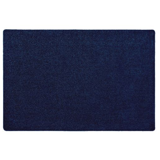 Image of MyPerfectClassroom Premium Solid Carpet 4' x 6' Dark Blue