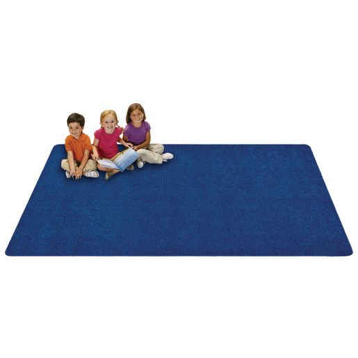 """MyPerfectClassroom® Premium Solid Carpet - 8'4"""" x 12' Blue"""