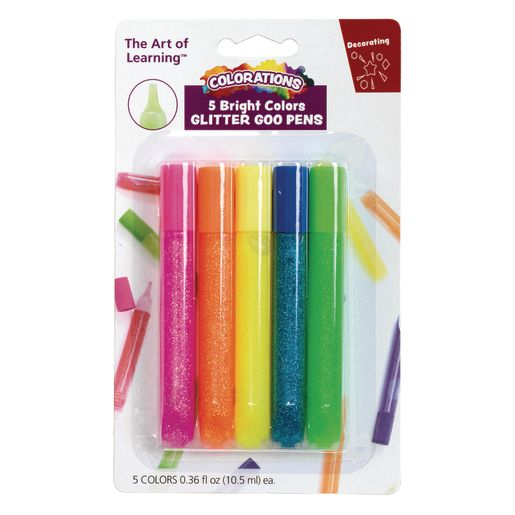 Image of Glitter Glue - Colorations Bright Glitter Goo Pens - Set of 5