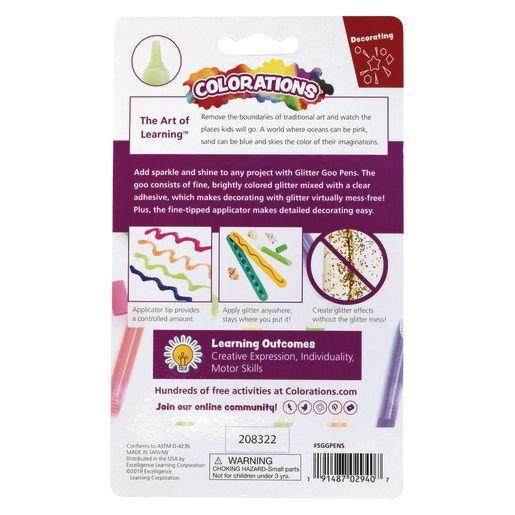Glitter Glue - Colorations® Bright Glitter Goo Pens - Set of 5