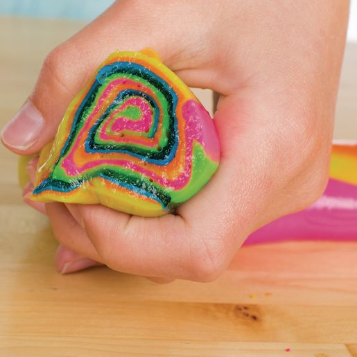 Steve Spangler Science Rainbow Slime Art