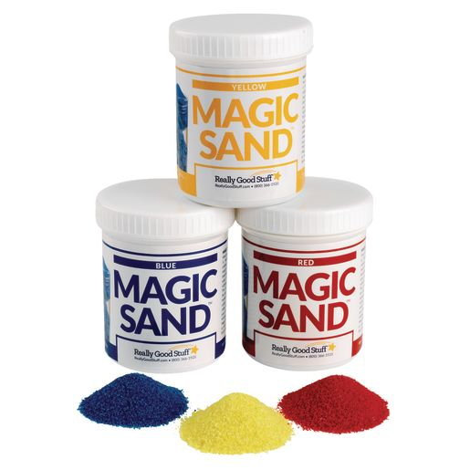 Steve Spangler Science Magic Sand Set of all 3 Colors