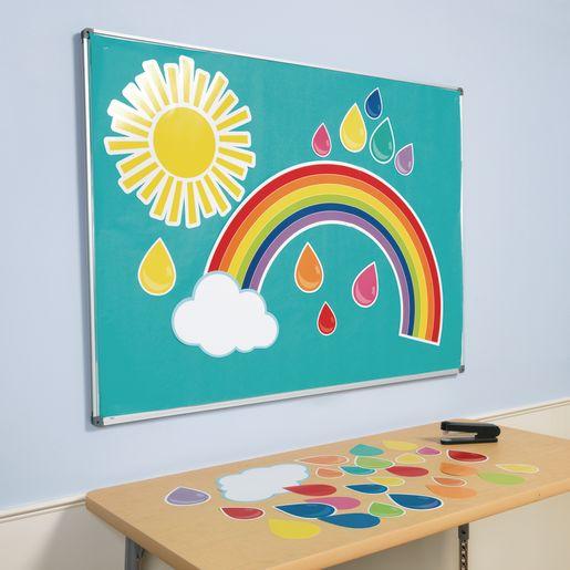 Giant Rainbow Bulletin Board Set - 47 Pieces