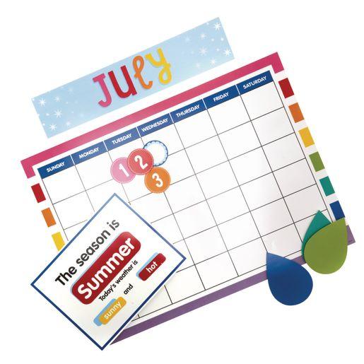 Hello Sunshine! Calendar Bulletin Board Set - 94 Pieces