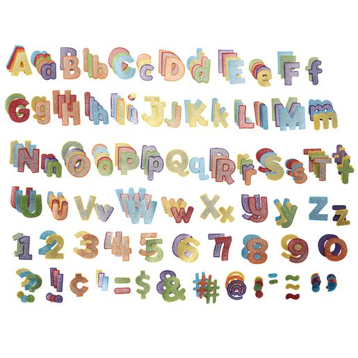 Colorful Glitter Combo Pack of EZ Letters - 219 Pieces