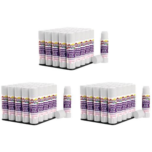 Colorations® Washable Premium White Glue Sticks, Set of 90, 0.32 oz ea