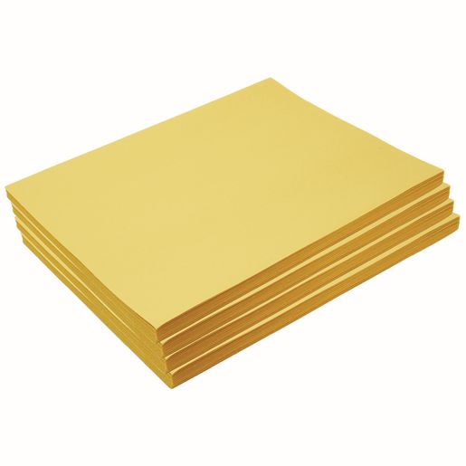 "Heavyweight Yellow Construction Paper, 9"" x 12"", 200 Sheets"