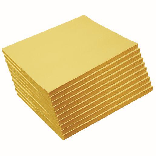 "Heavyweight Yellow Construction Paper, 9"" x 12"", 500 Sheets"