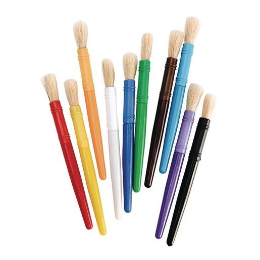 Colorations® Plastic Chubby Brushes Set of 20