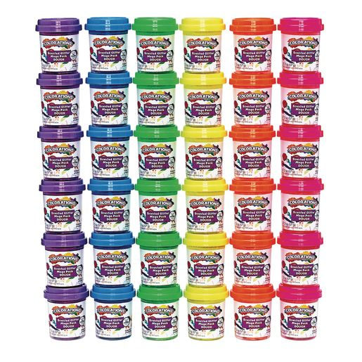 Colorations® Scented Glitter dough, 2 oz, set of 36