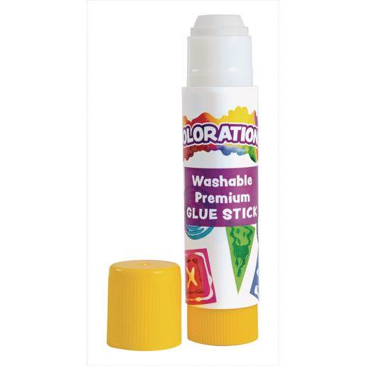 Colorations® Premium White Washable Glue Sticks, Set of 200, 0.17 oz each