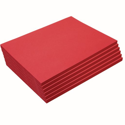 "Heavyweight Holiday Red Construction Paper, 9"" x 12"", 300 Sheets"