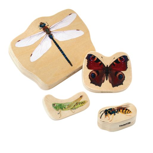 Wooden Minibeast Blocks Set of 33